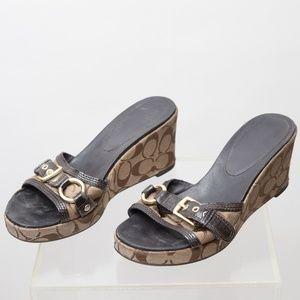 Coach Platform Wedge Shoes Size 9.5